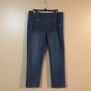 JAG Jeans Jeggings Blue Slim Fit High Waist Sz 16